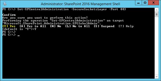 sharepoint central admin ssl