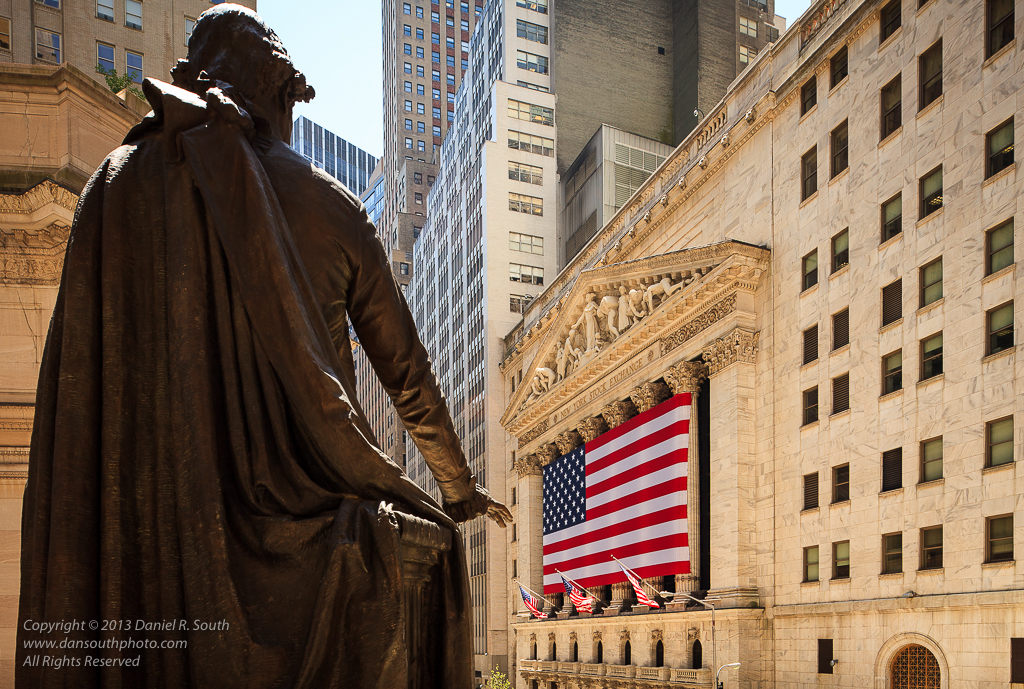a photo of the new york stock from federal hall