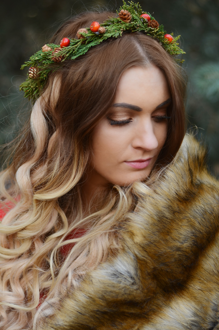 Urban Ombre – Festive Floral Crown by The Golden Petal