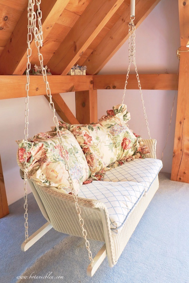 indoor swing in a post and beam house with ideas for you to create your own swing area