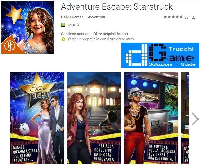 Soluzioni Adventure Escape Starstruck livello 1 2 3 4 5 6 7 8 9 10 | Trucchi e Walkthrough level
