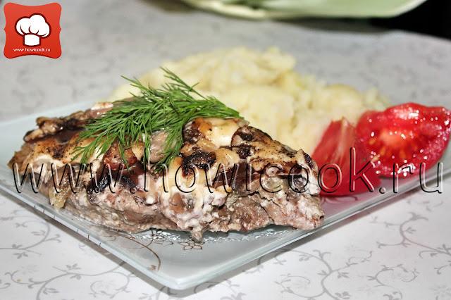 рецепт свинины с грибами в духовке