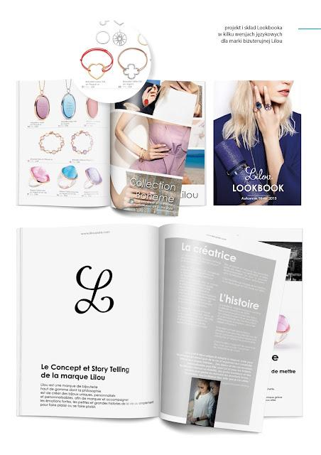 projekt, skład lookbook'a z biżuterią dla Lilou