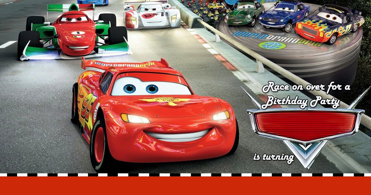 moms kiddie party link: disney cars party invitation, Birthday invitations