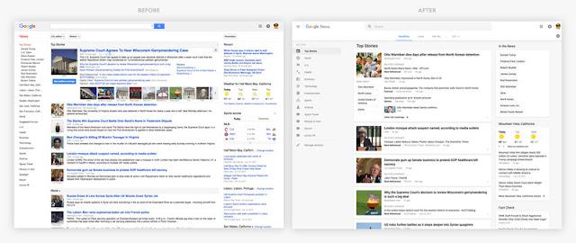 Google luncurkan desain baru Google News