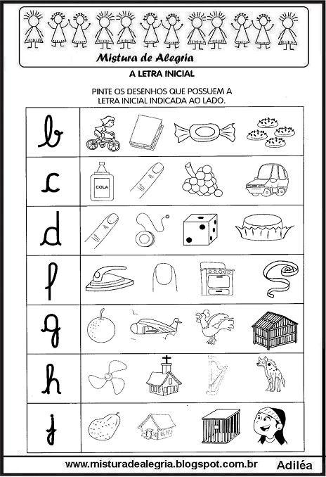 Atividades Com As Letras Do Alfabeto Alfabetização Imprimir E