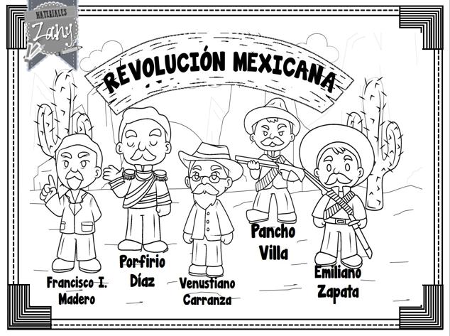 Revolución Mexicana Materiales Zany