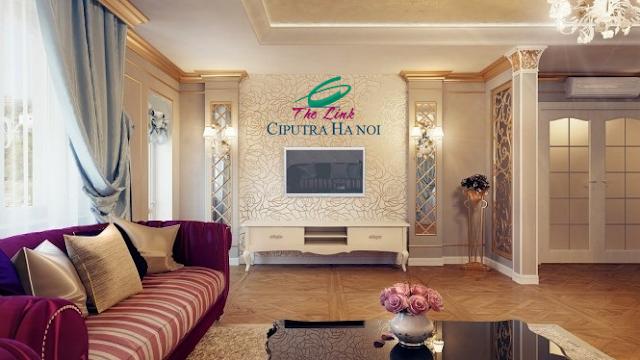 Phòng khách căn hộ The Link Ciputra