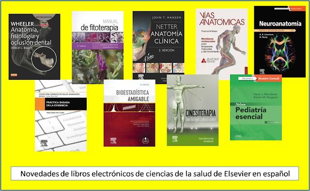 Novedades de libros electrónicos de Ciencias de la Salud de Elsevier en español.