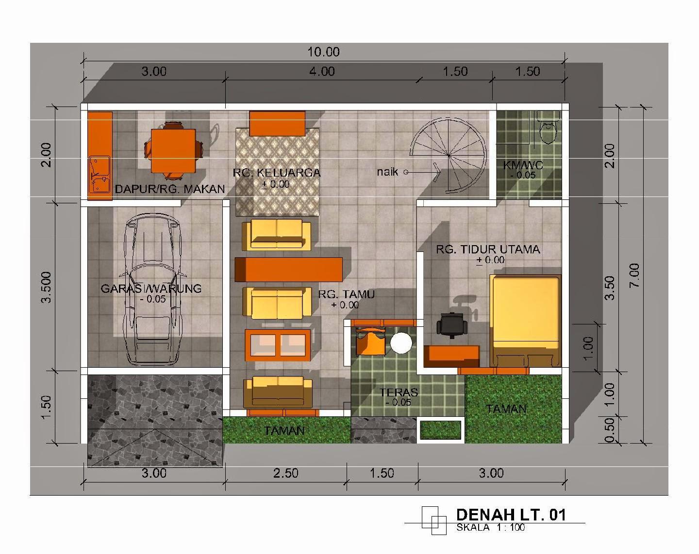 Model Rumah Minimalis Type 64 Wallpaper Dinding