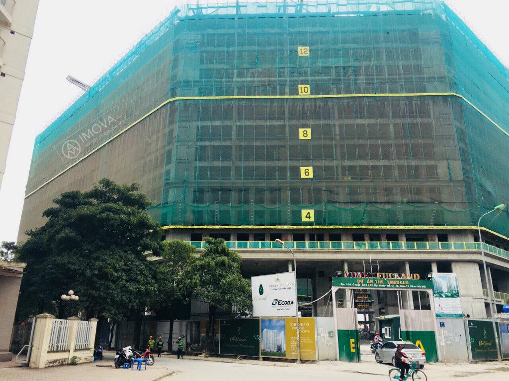 Dự án The Emerald xây đến tầng 15