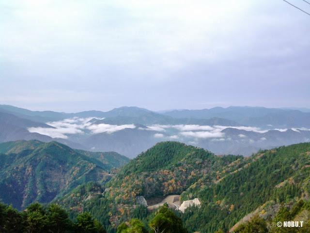 奈良県十津川村「玉置神社」駐車場からの景色