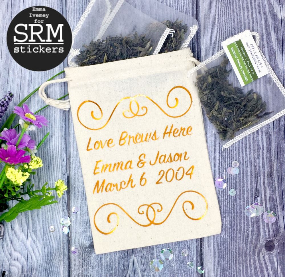 SRM Stickers: Modern Wedding Favors with Heat Transfer Vinyl by Emma