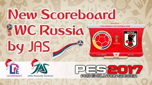 Scoreboard World Rusia 2018 For PES 2017