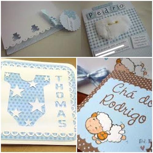 convites chá de bebê meninos