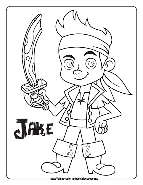 Coloring Sheets  Jake And The Neverland Pirate