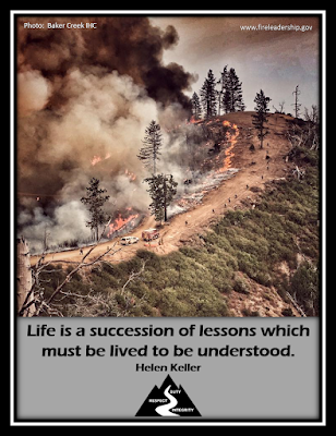 Life is a succession of lessons which must be lived to be understood. - Helen Keller crew working line on a mountain road