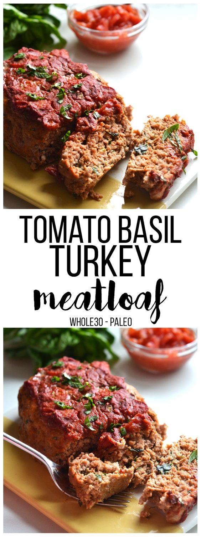 Tomato Basil Turkey Meatloaf