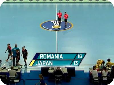 scor la pauza Romania 16 - Japonia 13