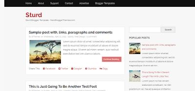 Sturd Blogger Theme