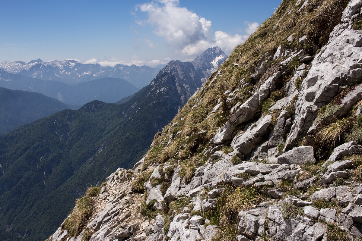 Blick vom Slovenska Pot am Prisojnik