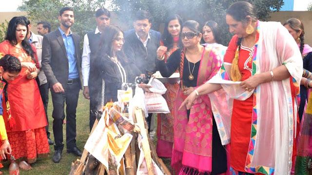Lohri celebration- Shiv College of Education Tigaon