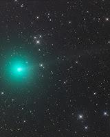 Kometa 46P/Wirtanen, zdjęcie z 09.11.2018 r. Credit: Gerald Rhemann (Farm Tivoli, Namibia, Afryka). Teleskop ASA Astrograf 12 f3.6 Kamera FLI ML 16200 Montaż ASA DDM85 Ekspozycja - LRGB 30-15-15-15 min.