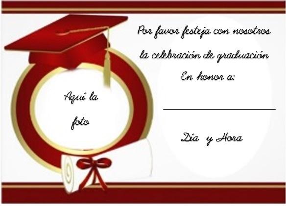 tarjetas de graduación bonitas listas para modificar y editar