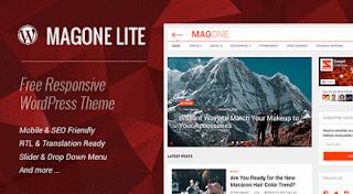 MagOne Lite 1.2 - Free Dwonalod Responsive WordPress