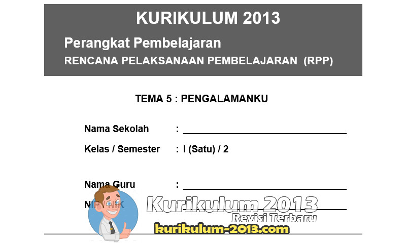 Download RPP Kurikulum 2013 SD Kelas 1 Semester 2
