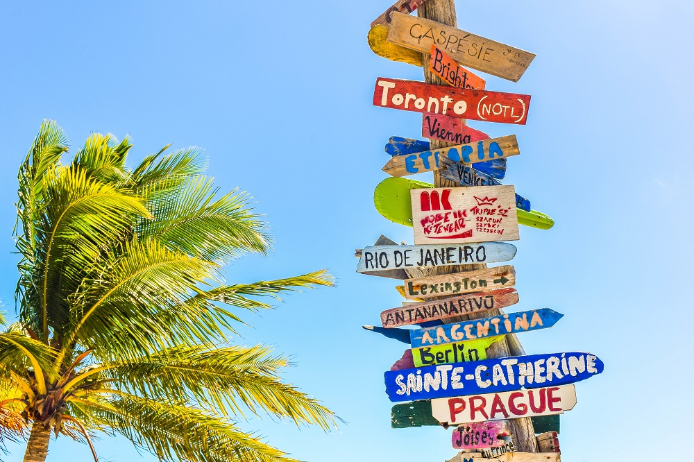 Country sign in Bahamas