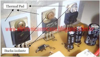Thermal Pad, Fonte de tensão variavel, projeto, eletronica em casa