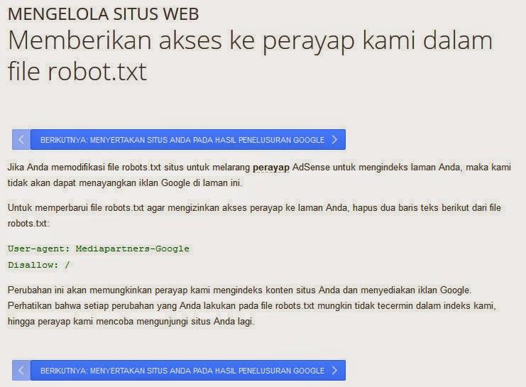 Cara Setting Perayapan Robot.txt