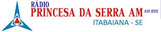 Ouvir e Assistir a Rádio Princesa da Serra AM 830 de Itabaiana SE Ao Vivo e Online