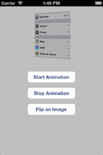 iOS UIImageView start flip animation