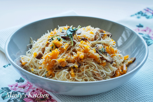 Minty's Kitchen: Pumpkin Rice Vermicelli (金瓜炒米粉)