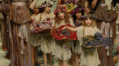 Flores de bienvenida a la primavera con Alma-Tadema