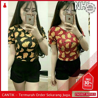 FNC027T49 Tshirt Banana Full Spandek Wanita 3w murah Serba 30 Ribuan