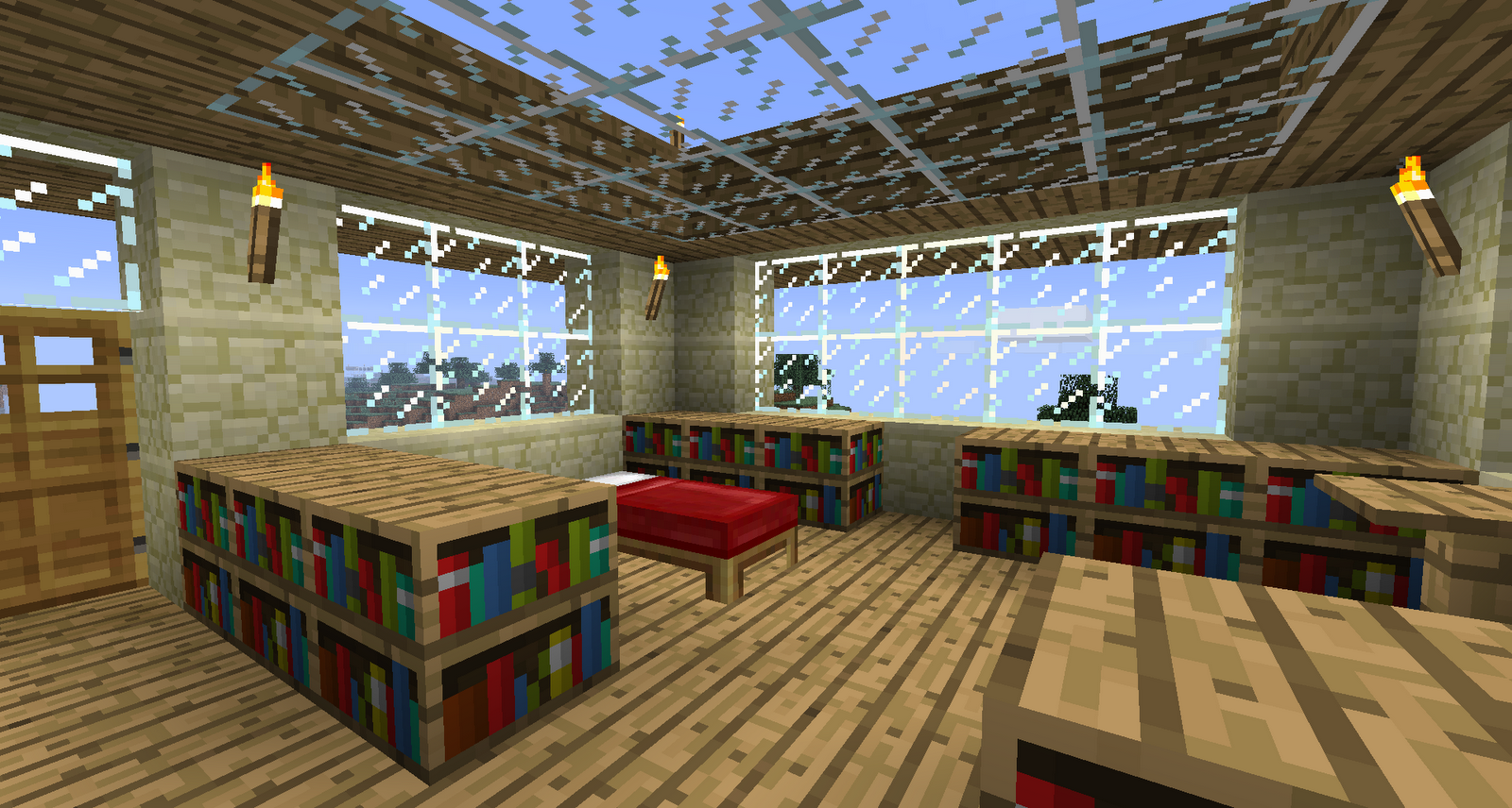 That's interesting...: Inside my Minecraft home