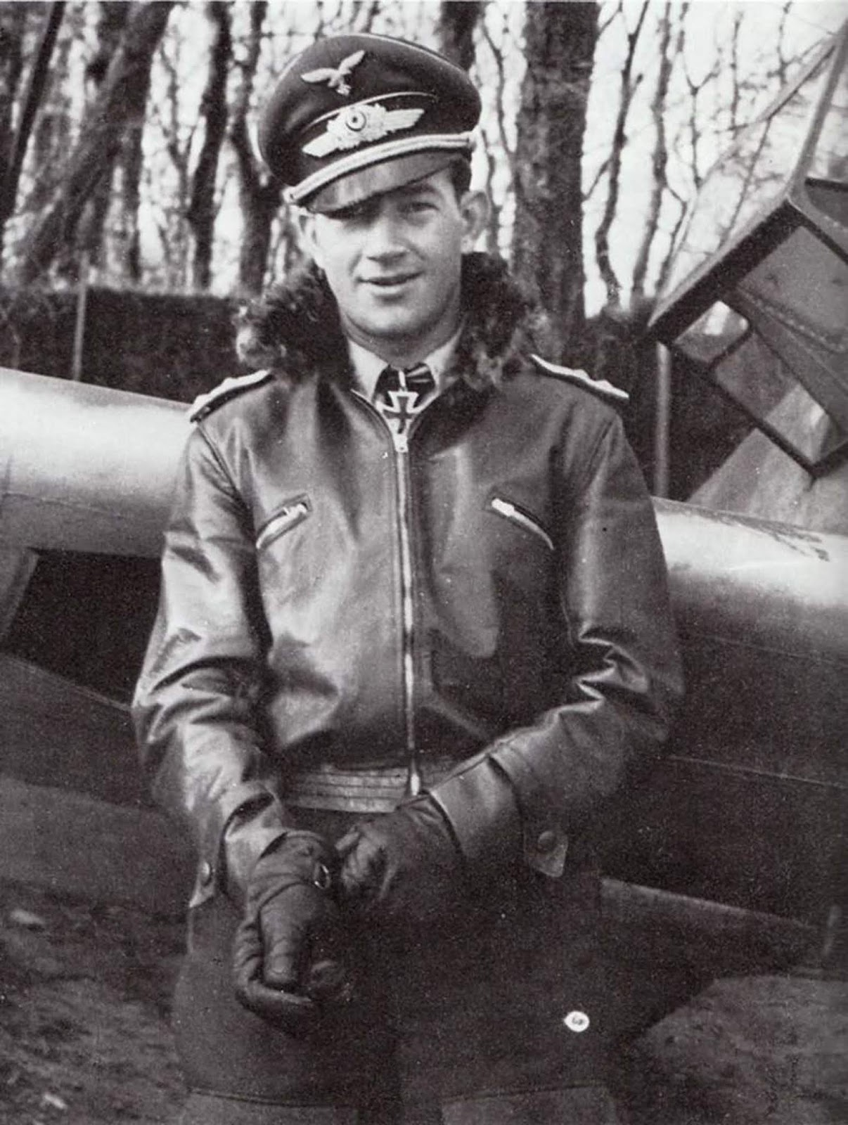 "Hermann-Friedrich ""Jupp"" Joppien had 70 victories, which was more than any Western Allied pilot. However, he was really a killer with the ladies when he donned that leather jacket. Check out the"