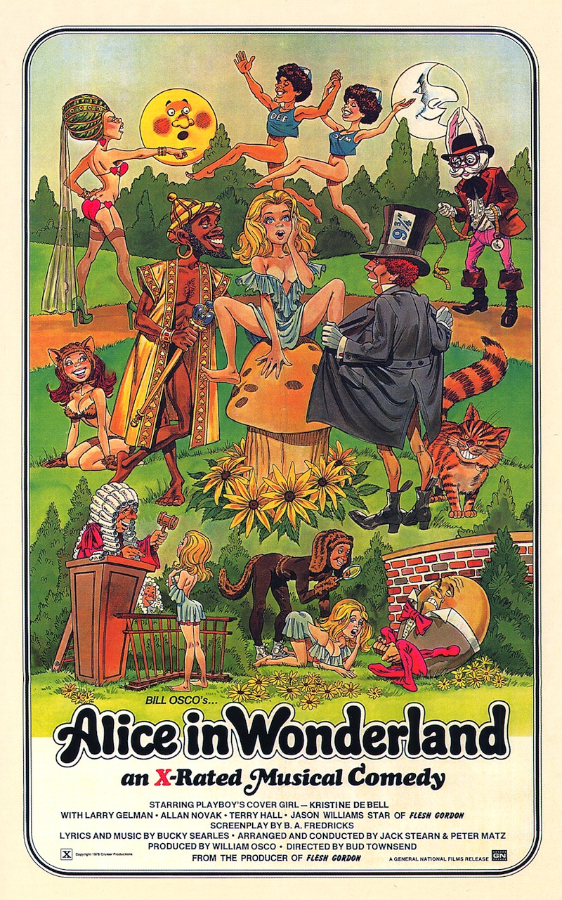 Alice In Wonderland A Musical Porno 1976 paco camino: vintage porn poster: alice in wonderland, 1976