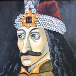 Vlad Tepes, the Impaler, Oil on canvas