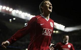 Ole Gunnar Solskjaer ketika berseragam Manchester United - Foto/zimbio.com