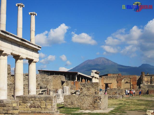 Vista del Vesubio desde Pompeya