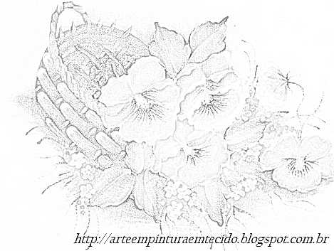 pintura em tecido flores risco para pintar