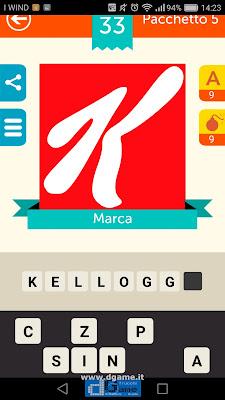 Iconica Italia Pop Logo Quiz soluzione pacchetto 5 livelli 33-75