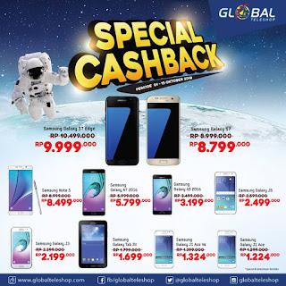 Spesial Cashback 10 Tipe Samsung di Global Teleshop