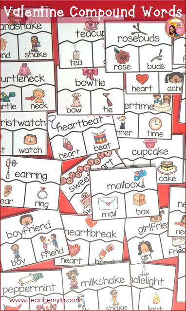 Valentine's Themed Compound Word Puzzles