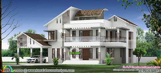 3340 square feet mix roof modern home