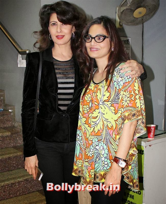 Sangeeta Bijlani and Alvira Khan, Bollywood Celebs at Jai Ho Special Screening